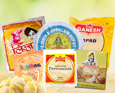 Indian Papad / Fryums Supplier Democratic Republic of Congo
